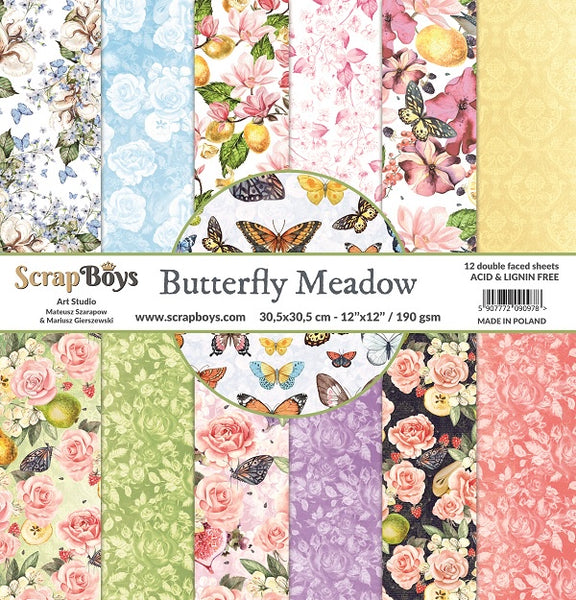 ScrapBoys - Butterfly Meadow - 12 x 12 Paper Pack (Bume-08)