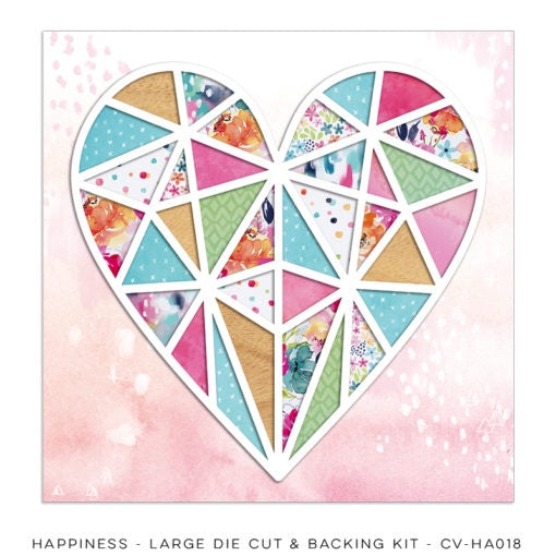 Cocoa Vanilla - Happiness - Large Die Cut & Backing Kit (CV-HA018)