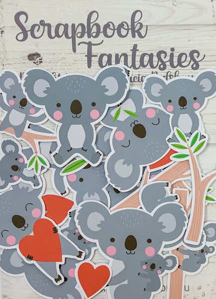 Colour-Cuts - Koala Cuties (21 pieces) Designed by Alicia Redshaw
