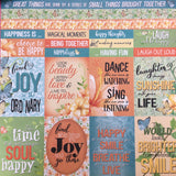 Celebr8 12x12 d/s Patterned Paper - Happy Days - Laugh PP2406