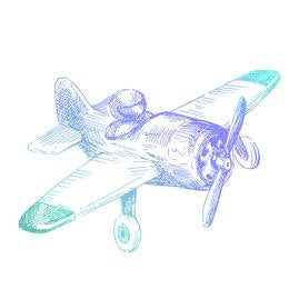 Couture Creations Men's Mini Stamp Airplane CO726791