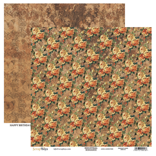 ScrapBoys - Industrial Romance - 12x12 Pattern Paper (Inro-05)