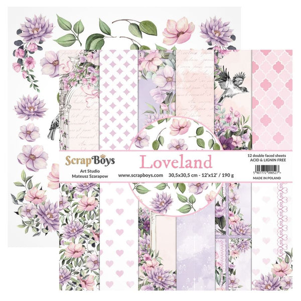 Scrap Boys - Love Land - 12 x 12 Paper Pack (Lola-08)