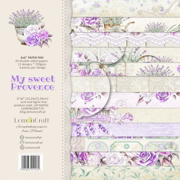 LemonCraft - My Sweet Provence - 6 X 6 Paper Pad