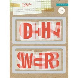 Crate Paper The Pier Letter Embellishments - 58 pieces (683193)