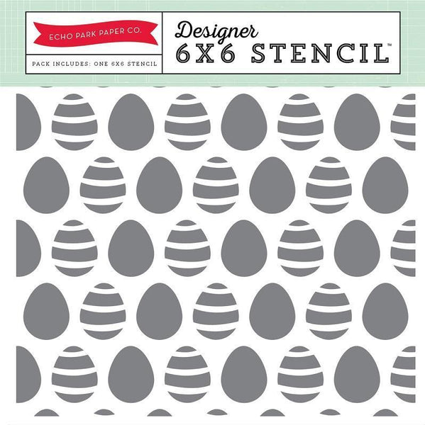 Echo Park Paper Co - Easter Eggs - Stencil Set - 6in X 6in (EA100033)