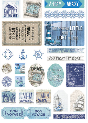 Celebr8 Diecuts Bonus Pack - Set Sail - includes Cut-out Sheet