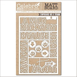 Celebr8 Savanna Sunset Word Ivory Chipboard MB4650