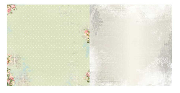 Bo Bunny Soiree 12x12 Patterned Paper - Tranquil