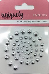 Uniquely Creative - Pearl Bling - Silver Pearls (UCE1730)
