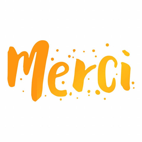 Ultimate Crafts - Hot Foil Stamp - Merci - (ULT158098)