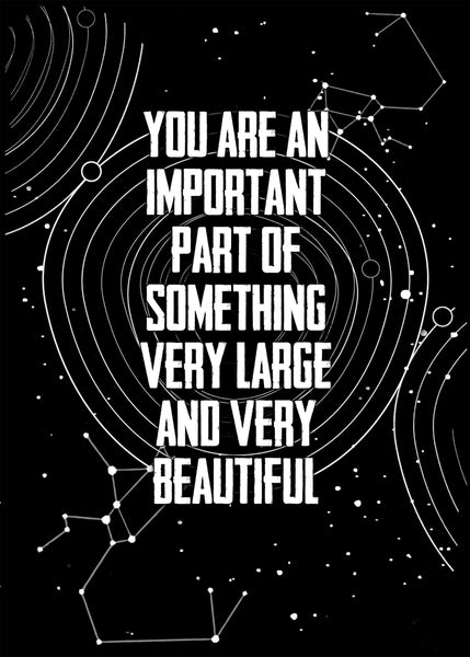 You are a part of something beautiful