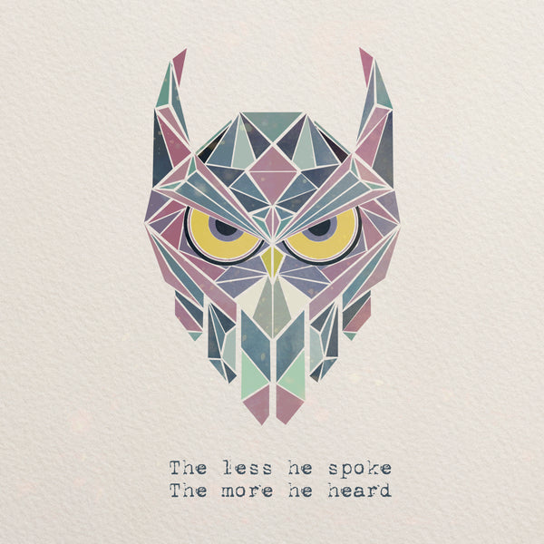 Owl Geometric Art Polygonal