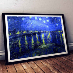 Starry Night Over the Rhone Vincent Van Gogh Painting