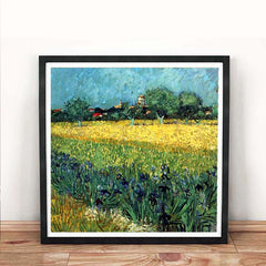 Field with Irises near Arles Vincent Van Gogh Painting