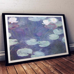 Pink Water Lillies Claude Monet Painting