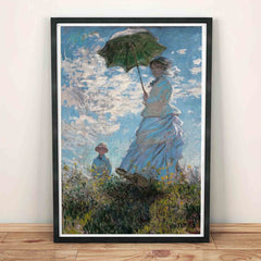 Woman with a Parasol Claude Monet Painting