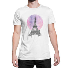 Eiffel Tower Digital Art T Shirt