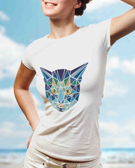 Cat Geometric Art Tee