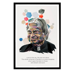 APJ Abdul Kalam Art and Quotes Poster