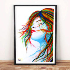 Blowing Wind Art Poster