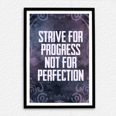 Progress Not for Perfection Poster
