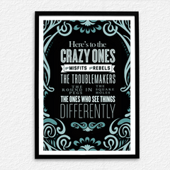 Crazy Ones Differently Poster