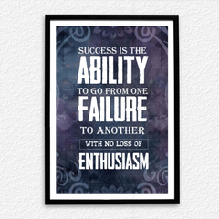 Ability Failure Enthusiasm Poster