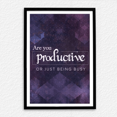 Are You Productive Poster