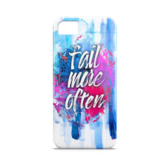 Case - Fail More Often Typography Artwork Case One Plus