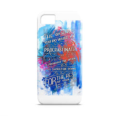 Case - Work You Procrastinate Typography Artwork Case Xiaomi