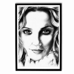 Poster - Drew Barrymore Sketch Work Poster