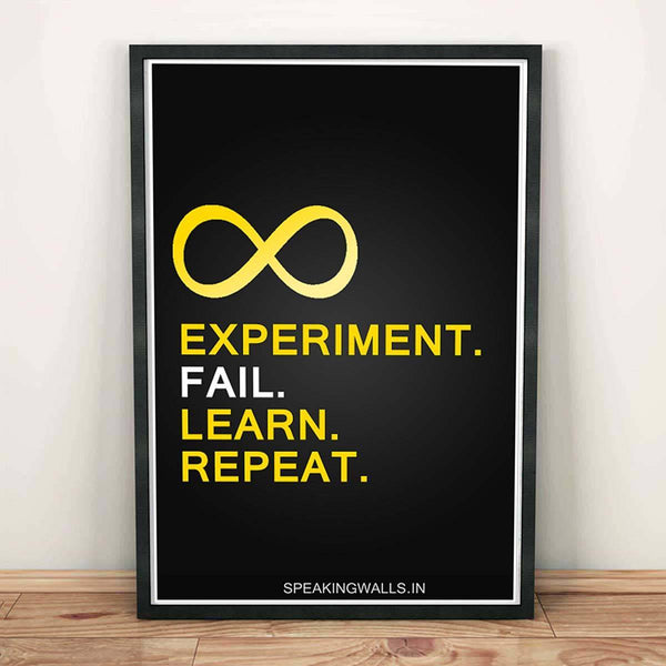 Poster - Experiment. Fail. Learn. Repeat