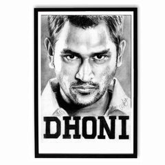 Poster - M S Dhoni Sketch Work Poster