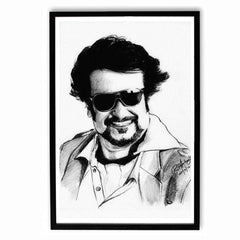 Poster - Rajnikanth Sketch Artwork Poster