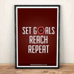 Poster - Set Goals. Reach. Repeat