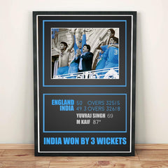 Poster - Sourav Ganguly Memorable Moment Natwest Series 2002