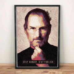 Poster - Steve Jobs Stay Hungry Stay Foolish Quotes