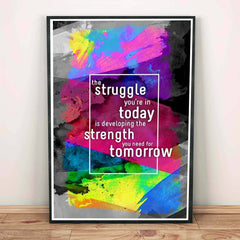 Poster - Struggle To Strength Quote