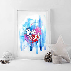 Poster - Take Risks Typography Art
