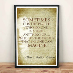 Poster - The Imitation Game Quotes