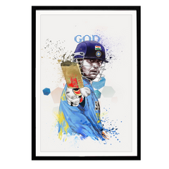 GOD Sachin Tendulkat Art Poster