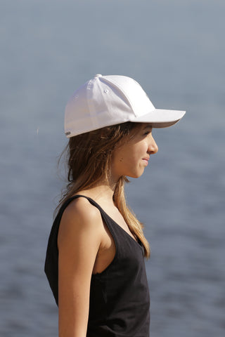 WHITE KID CAP - MADE IN FRANCE