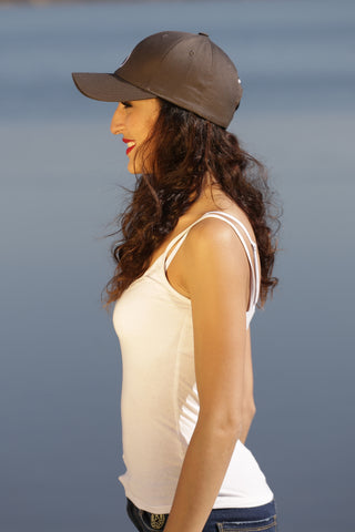 GRAY WOMAN CAP ANTHRACITE - MADE IN FRANCE