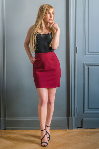 BURGUNDY ALTONA SKIRT