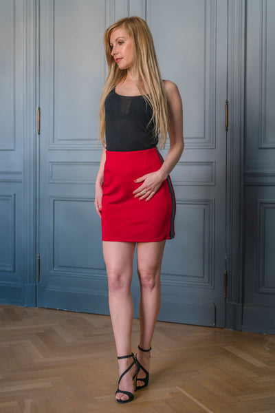 RED ALTONA SKIRT