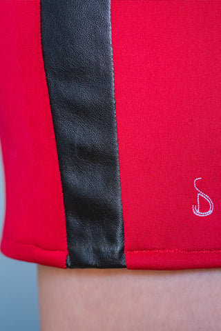 RED ALTONA SKIRT - MADE IN FRANCE -  WITH INTEGRATED SENSOR
