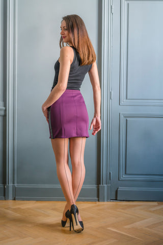 PURPLE ALTONA SKIRT - MADE IN FRANCE -  WITH INTEGRATED SENSOR
