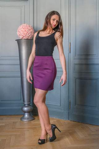 PURPLE HARLEM SKIRT - MADE IN FRANCE -  WITH INTEGRATED SENSOR