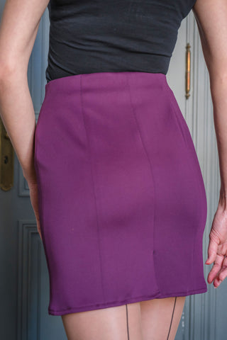 PURPLE HARLEM SKIRT